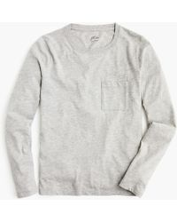 J.Crew - J. Crew Essential Long-sleeve Pocket T-shirt - Lyst