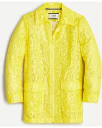 J.Crew Collection Coated Lace Coat - Yellow