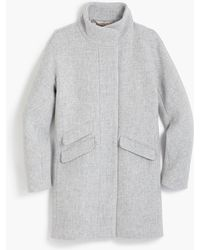 J.Crew Petite Cocoon Coat In Italian Stadium-cloth Wool - Gray