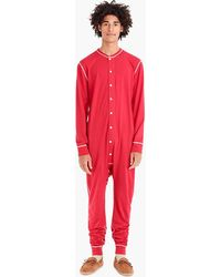 J.Crew Jersey Union Suit - Red