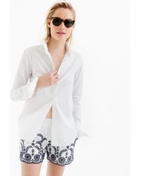 J.Crew - Pull-on Short With Floral Embroidery - Lyst