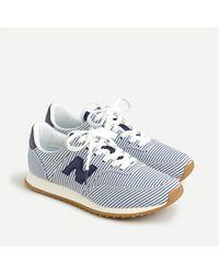 New Balance ® X J.crew Comp 100 Sneakers In Stripe - Blue