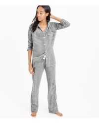 J.Crew - Petite Dreamy Cotton Pajama Set In Stripe - Lyst