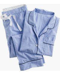 J.Crew Vintage Short-sleeve Pyjama Set - Blue
