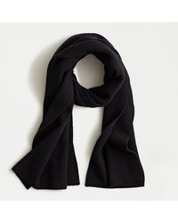 J.Crew Ribbed Scarf In Supersoft Yarn - Black