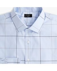 J.Crew - Slim Ludlow Stretch Two-ply Easy-care Cotton Dress Shirt In Sky Tattersall - Lyst