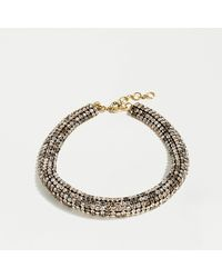 J.Crew Crystal Chain Collar Necklace - Metallic