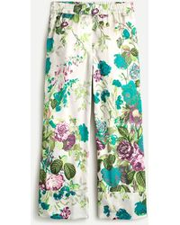 J.Crew Pull-on Crop Pant In Ratti Leafy Floral - Green