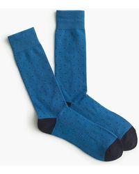 J.Crew - Swiss-dot Padded Footbed Socks - Lyst