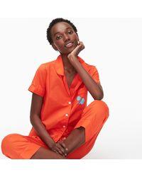 J.Crew Short-sleeve Pyjama Set - Red