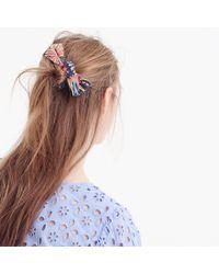 J.Crew - Bow Hair Tie In Flower Field - Lyst