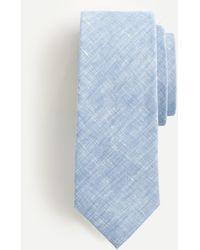 J.Crew Tie In Baird Mcnutt Irish Linen - Blue