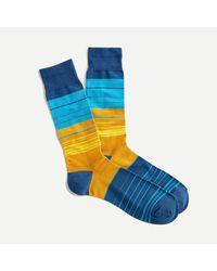 J.Crew Multistripe Socks - Blue