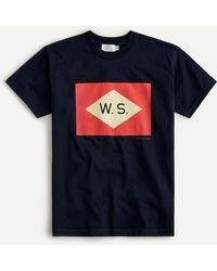 J.Crew Wooden Sleepers X Short-sleeve T-shirt - Blue