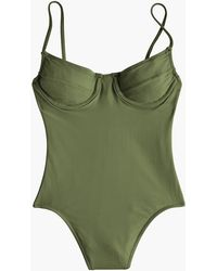 J.Crew Women's 1993 Underwire One-piece Swimsuit - Green