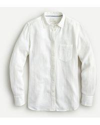 J.Crew Classic-fit Cozy Gauze Shirt - White