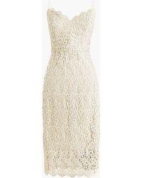 J.Crew - Spaghetti-strap Dress In Guipure Lace - Lyst