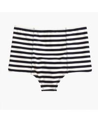 J.Crew - High-waist Bikini Bottom In Classic Stripes - Lyst