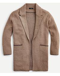 J.Crew Sophie Open-front Sweater-blazer In Chevron - Natural