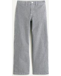 J.Crew Slim Wide-leg Jean In Navy Stripe - Blue