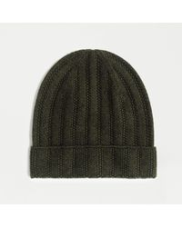 J.Crew Ribbed Cashmere Beanie - Green