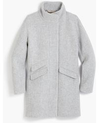 J.Crew Cocoon Coat In Italian Stadium-cloth Wool - Gray