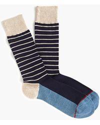 J.Crew Sand Striped Socks - Blue