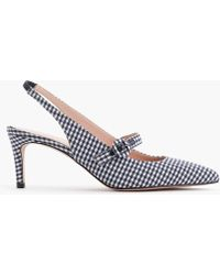 J.Crew - Strappy Slingback D'orsay Pumps In Gingham - Lyst