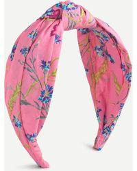 Liberty Turban Knot Headband In ® Print - Pink