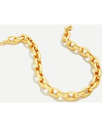 J.Crew Chunky Chain-link Necklace - Metallic