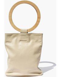 Modern Weaving - Wood Circle Handle Tote Bag - Lyst