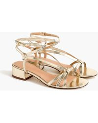 J.Crew - Strappy Lady Sandals In Metallic Gold - Lyst