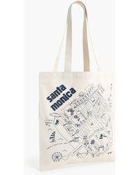 J.Crew Maptote Santa Monica Tote Bag - White