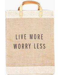 Apolis - Live More Worry Less Market Bag - Lyst