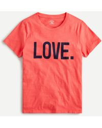"J.Crew Vintage Cotton Crewneck ""love"" T-shirt - Red"