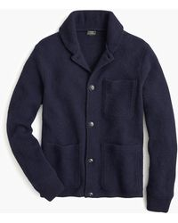 J.Crew Chore Jacket In Brushed Lambswool - Blue