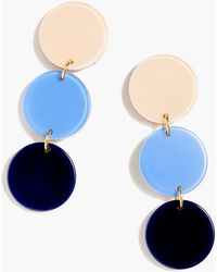 J.Crew - Resin Disc Drop Earrings - Lyst