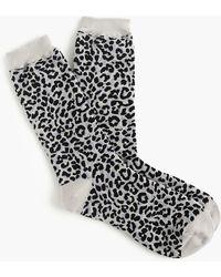 J.Crew - Trouser Socks In Leopard - Lyst