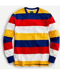 J.Crew Rugby Crewneck Shirt In Stripe - Blue