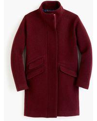 J.Crew Cocoon Coat In Italian Stadium-cloth Wool - Red