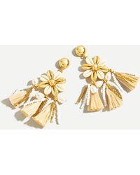 J.Crew Seaside Tassel Statement Earrings - White