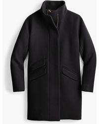 J.Crew Petite Cocoon Coat In Italian Stadium-cloth Wool - Black