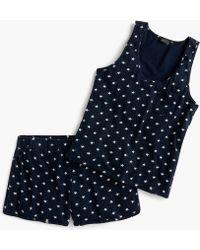 J.Crew - Short-sleeve Cotton Pyjama Set In Stars - Lyst
