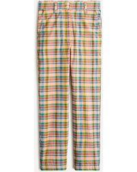 J.Crew High-rise Straight-leg Pant In Ribbon Plaid - Multicolour