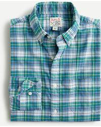 J.Crew Broken-in Organic Cotton Oxford Shirt - Blue