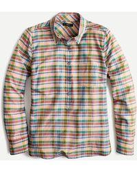 J.Crew Classic Popover Shirt In Ribbon Plaid - Multicolour