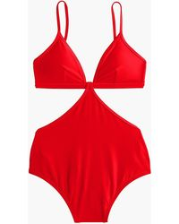 J.Crew Cutout One-piece Swimsuit - Red