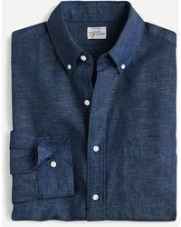 J.Crew Slim Baird Mcnutt Irish Linen Shirt - Blue