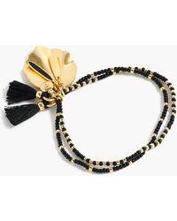 J.Crew - Beaded Shell-and-tassel Bracelet - Lyst