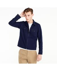 J.Crew - Wallace & Barnes Canvas Zip-front Workshirt - Lyst